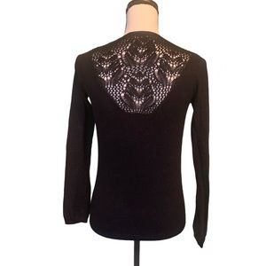 Anthropology Sparrow Black Lace Sweater